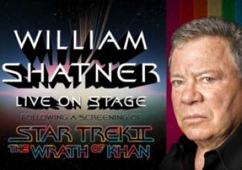 William Shatner and Star Trek II: the Wrath of Khan en Cardiff