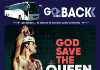 Bus GO SAVE THE QUEEN, en el Concert Music Festival en 11139 Chiclana de la Frontera