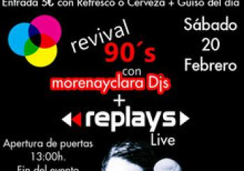 REPLAYS + MorenayclaraDJS at REVIVAL 90's en Sevilla