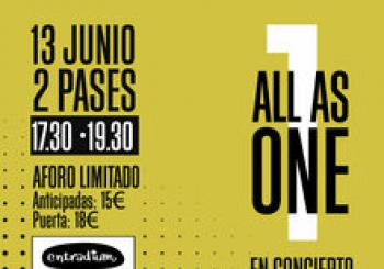 ALL AS ONE en concierto Barcelona