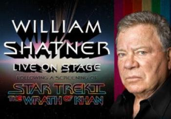 William Shatner and Star Trek II: the Wrath of Khan en London
