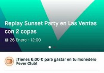 Replay Sunset parties 26 de enero y 23 de febrero . En Madrid