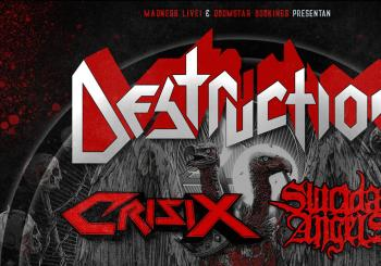 Destruction + Crisix + Suicidal Angels en Madrid